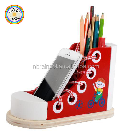 YHHM160 RDT Kids Baby Early Intelligence DIY Wooden Multipurpose Shoes-tie Learning Threading Shoes Toy Phone Container Holder