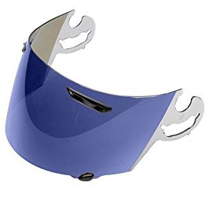Arai Face Shield Corsair V Street Bike Motorcycle Helmet Accessories - Blue Mirror / One Size