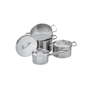 High quality flower cookware set with capsule bottom for induction cooker