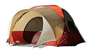 Texsport Clear Creek 3 Person Vestibule Tent (Red/Tan, 8-Feet X 10-Feet X 74-Inch) by Texsport