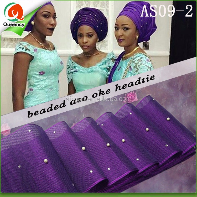 Purple African Aso Oke Headtie With Pearls - Buy 2013 Nigeria ... b670b3e069d