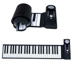 Silicone hand roll up piano