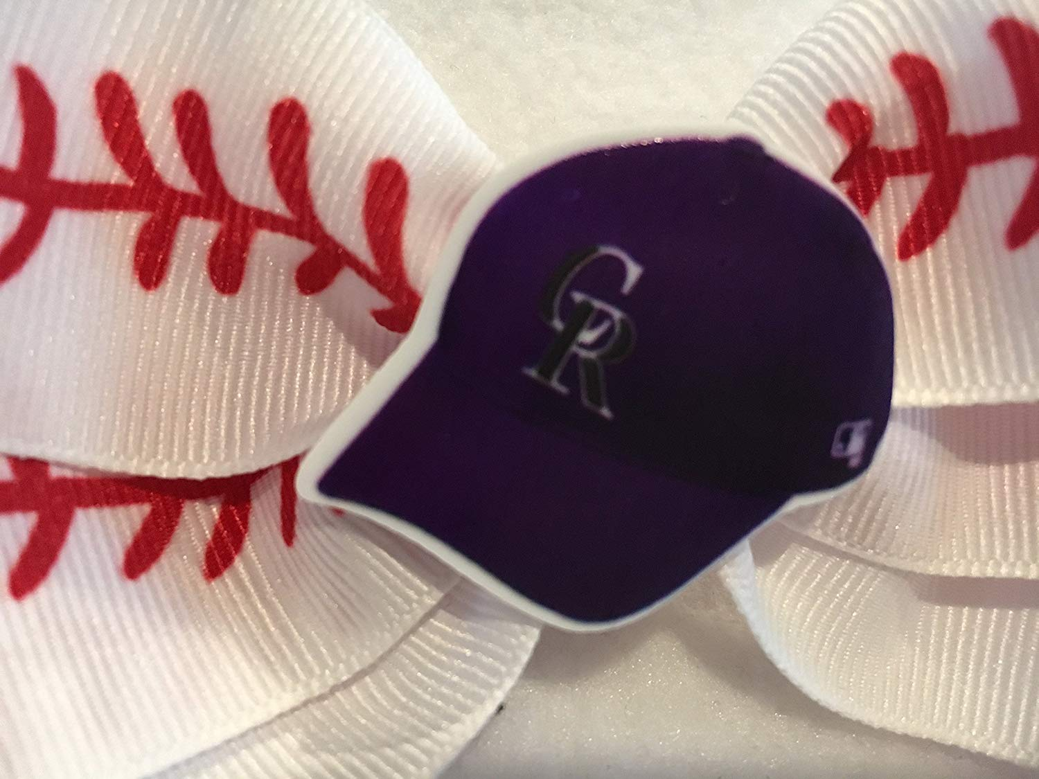 7d627f23c50c4 Get Quotations · Colorado Rockies Hair Bow