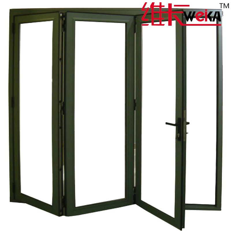 new style quality pvc glass folding door