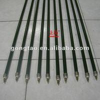 Ceramic infrared rod radiators
