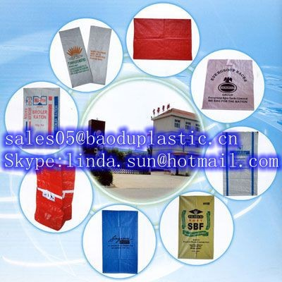 Plastic,raw or recycled PP woven plastic bag Material and Accept Custom Order rice bags design prints