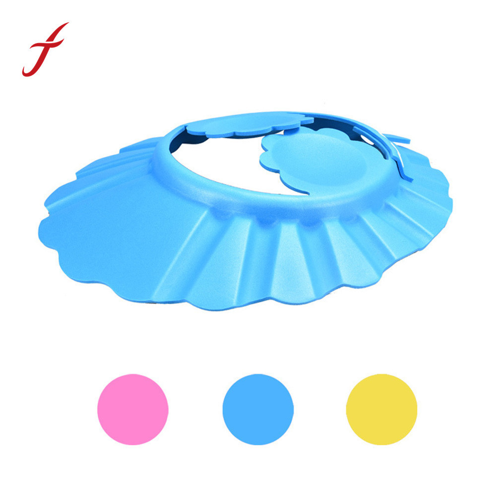 Feitong New Arrival Baby Care Cap Shampoo Shower Bathing Protection Adjust Soft Cap Hat For Baby With Protect Ear Shipping