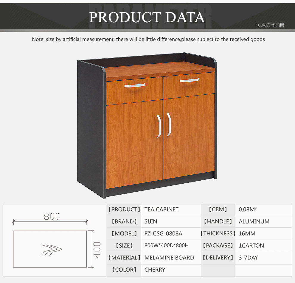 Sijin New Design Of Office Coffee Cabinets Wall Cabinet Wooden Tea