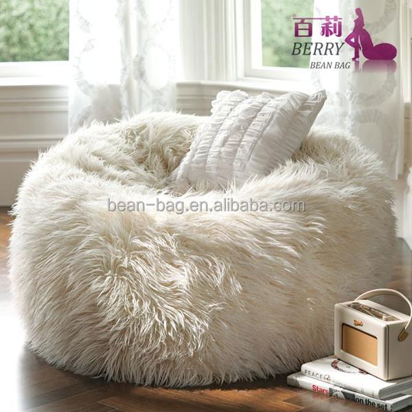 Best Selling Long Shaggy Fur Chair Bean Bag Buy Heated