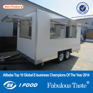 2015 hot sales best quality food caravan for USA standard pearl pannel food caravan fiber glass food caravan