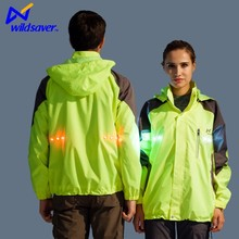 Dongguan Led fluorescence Biker hiking safety jacket led sport wear