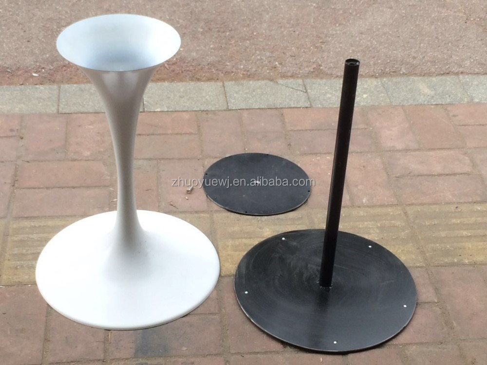 Wholesale Round Black Metal Tulip Dining Table Base For White Marble Tulip  Table