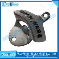 At stock OPEN HERE wall mount bottle openers