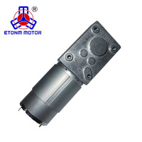 ET-WGM58-A Brand New High Torque, Low Noise, 90 Degree Right Angle 1-100rpm 12V/24V DC Worm Gear Motor