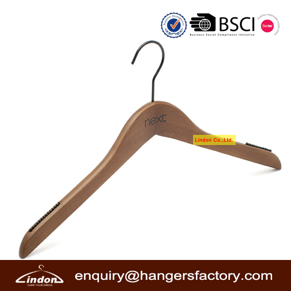 LINDON custom black hook brand clothes hanger guangxi