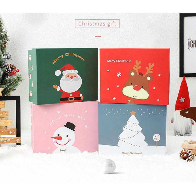 2019 New Style Custom Red pink Christmas Packaging Cardboard Fancy a Paper Gift Box include gift bag