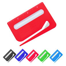 New arrived office stationery multifunctional colorful ABS plastic innovated letter opener with 3.5 inches ruler and magnifier