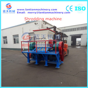 Plastic shed shredder shredding machine