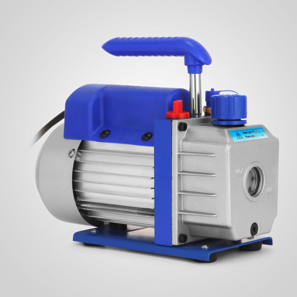 3CFM Rotary Vane Deep Vacuum Pump 1//4HP AC R410a R134A-R12//R22 Refrigerant HVAC