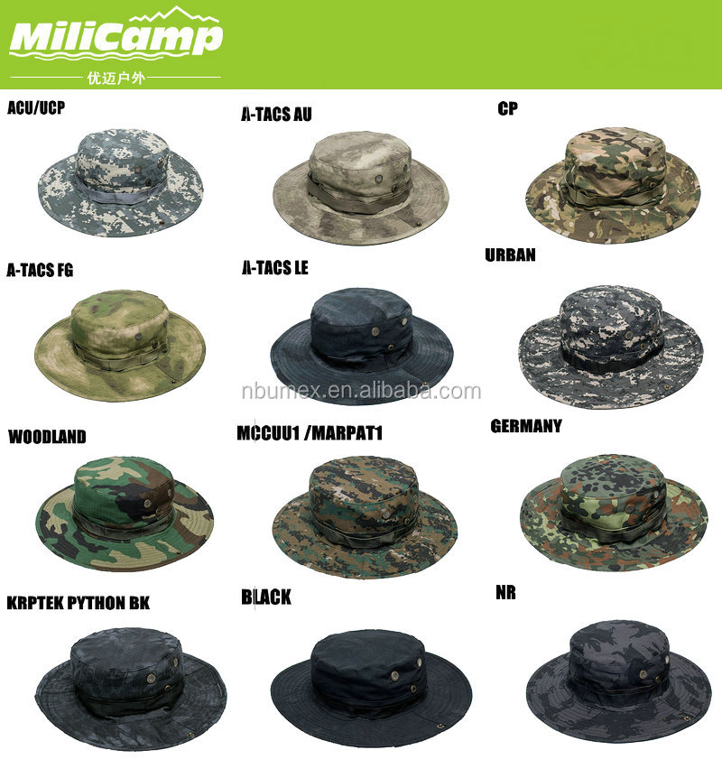 faf7f26369251 Woodland DCU desert camo night outdoor sun bucket hat with string custom boonie  hat