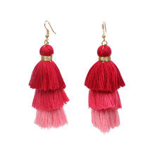 Cheap price Aliaba Colorful Cotton Earring Tassel Customize Cotton Earring tassel