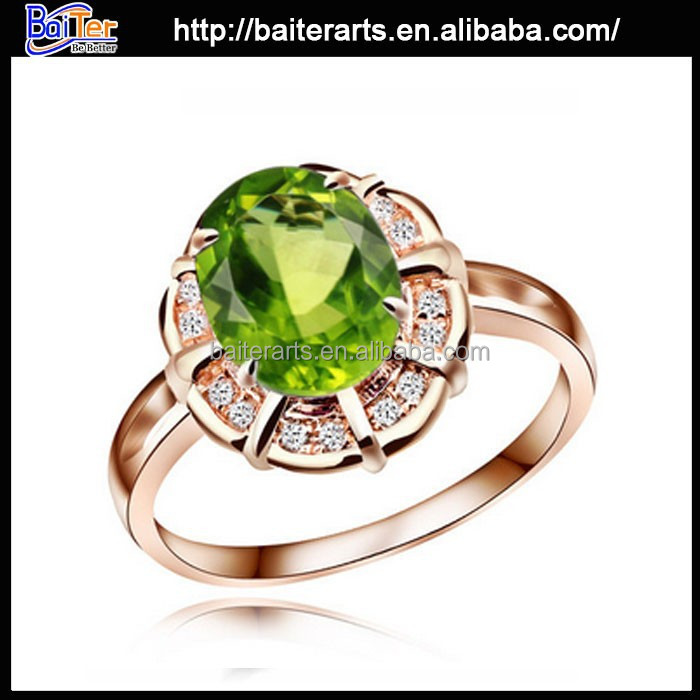 Elegant natural turquoise peridot silver ring, silver ring with peridot, women 925 sterling silver real peridot ring