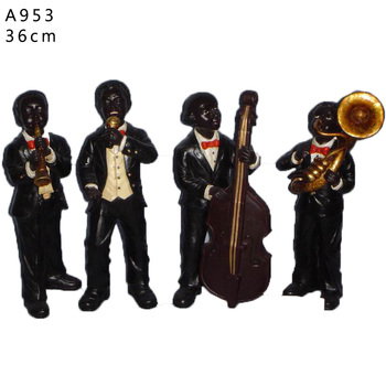 Decorative-resin-statue-jazz-player-blac