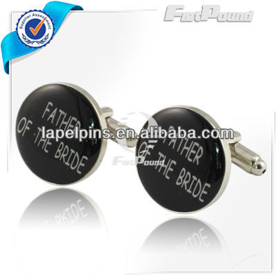 Graceful Round Father of the Bride Cufflinks