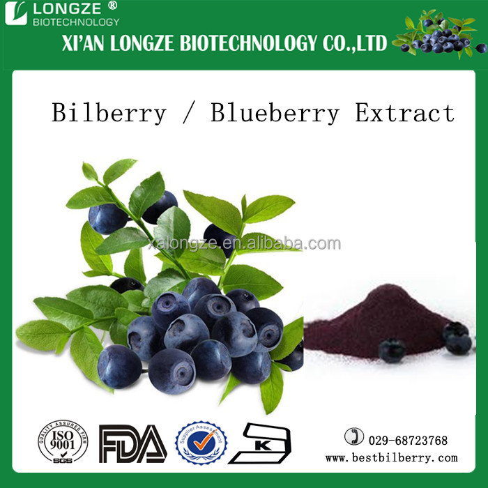 Finland source 25%Anthocyanidins 50%proanthocyanins bilberry extract powder with competitive price