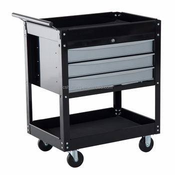 Metal Tool Cart 3 Drawers With Bbs Trolley