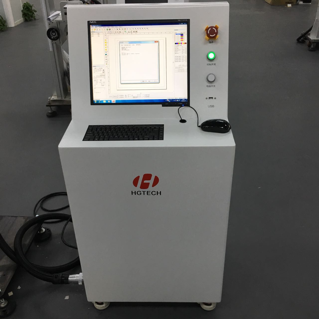 China factory supplier quick installation easy operating fiber laser marking machine with CE ISO FDA IAF certification