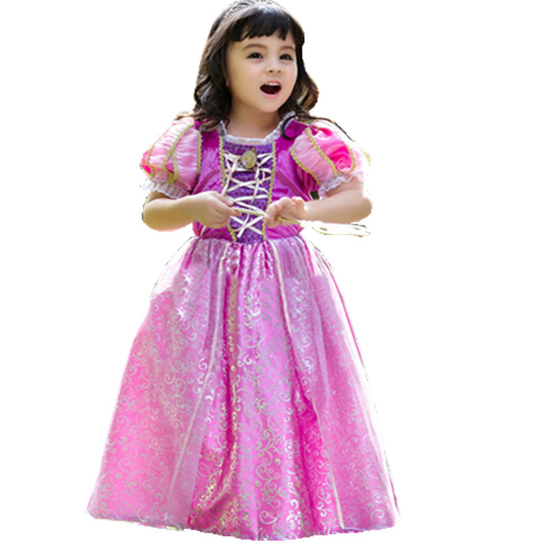 2015 Summer Fashion Baby Girls Dress Children pageant dresses Princess Dresses for Party and Weeding Elsa Dress Anna Clothes