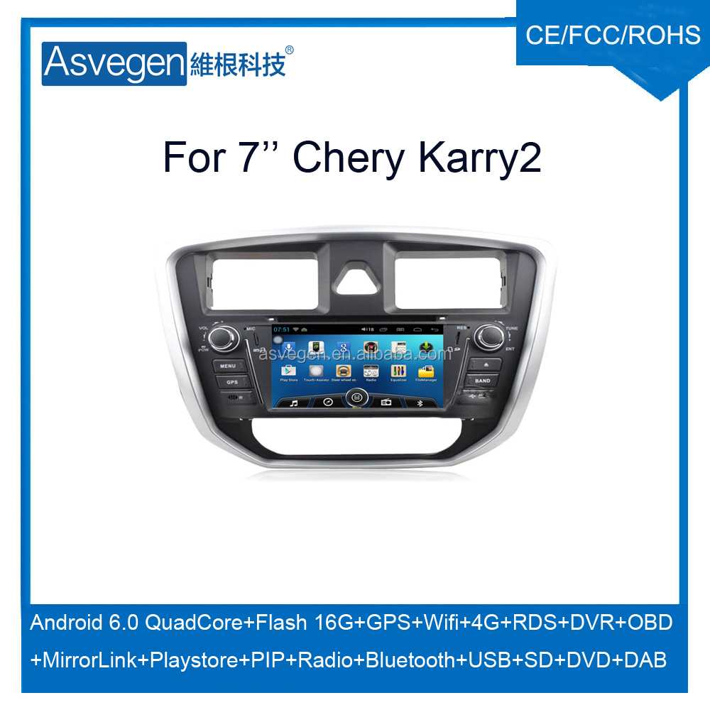 Wholesale Android 5.1.1 car dvd navigation for Chery Karry2 gps with wifi,bluetooth,google playstore