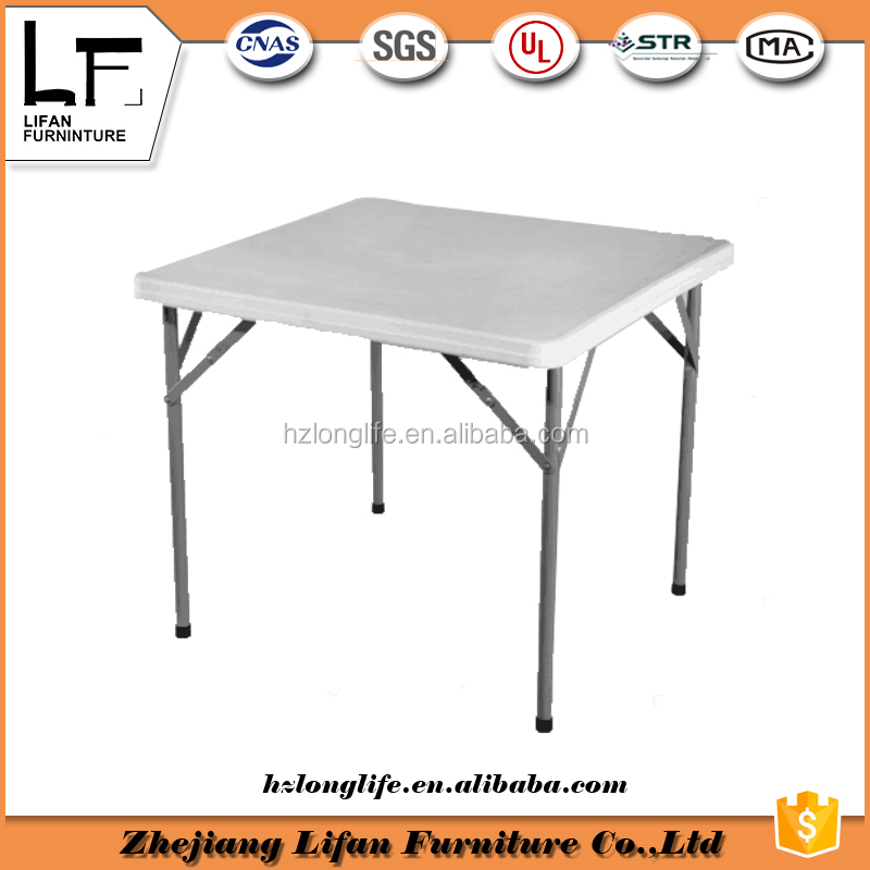 86cm square dining plastic folding table and chair set modern