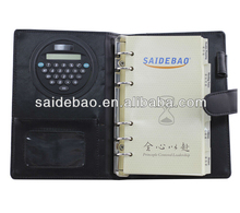 Binding Customized Organizer Agenda Notebook Diary with Calculator with Pocket