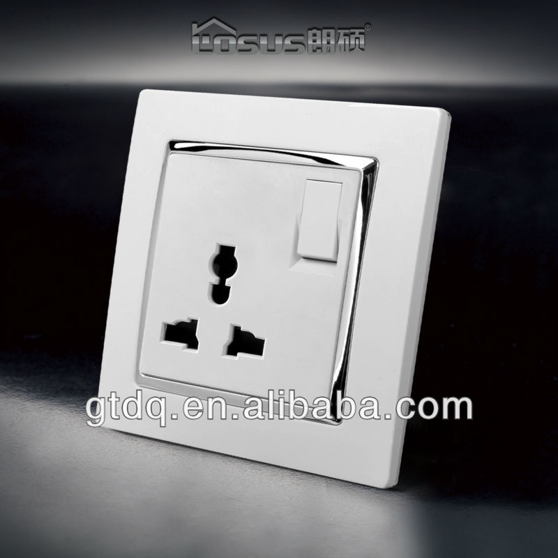 universal socket, multi function wall outlet, 10A switched socket, GT9011