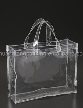 Promotion Clear Pvc Cosmetic Plastic Handle Bag Vinyl
