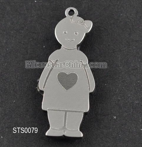 Hot sales new stainless steel figure bead pendant charm