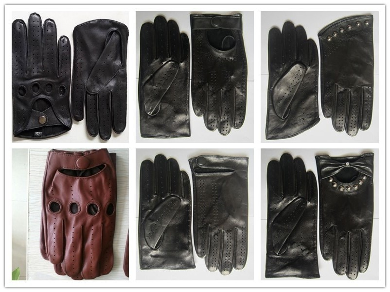 Top Cowhide Driving Leather Gloves Made In Professional Leather ...