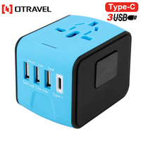 Hot easily use cheap travel adapter all in one universal international adaptor 750W power worldwide adapters