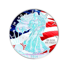 Hologram Patriottische Walking Liberty ONS Zilver Eagle Coin