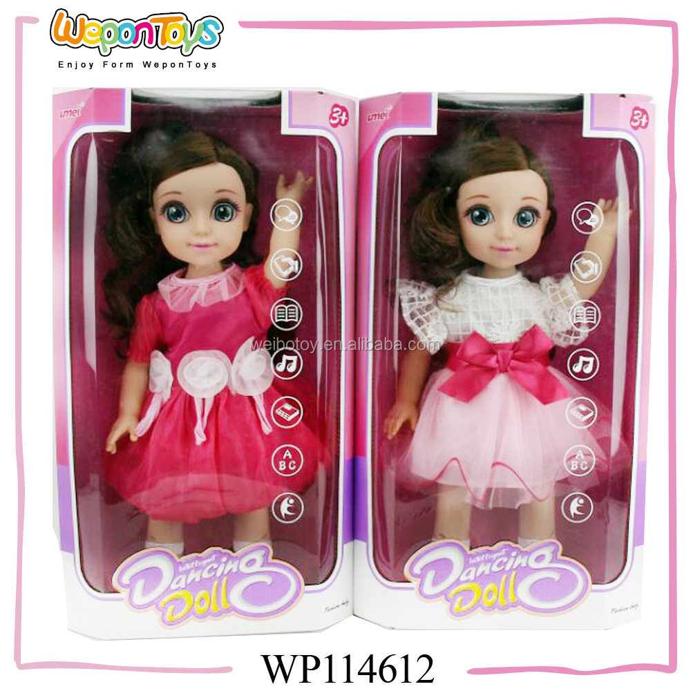 new arrival multifunction educational intelligent doll battery operated talking doll for kids