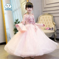 new long sleeve wedding embroidered eugenia dress party wear flower girls dresses