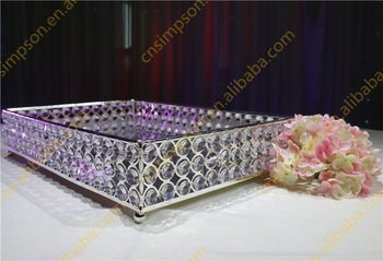 Square crystal tray for wedding decoration buy cheap decorative square crystal tray for wedding decoration junglespirit Images