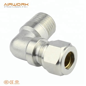 PL 90 degree hydraulic elbow bite type tube fitting compression copper pipe fittings