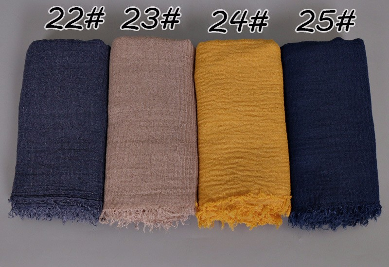 Cotton scarf for muslim women hijab wholesale muslim shawl