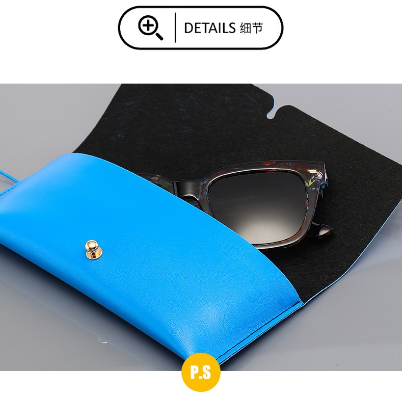 HJ Wholesale Soft Leather Gift Sun Glasses Bags Logo Print Cardboard Eyeglasses Pack with Microfiber Cloth