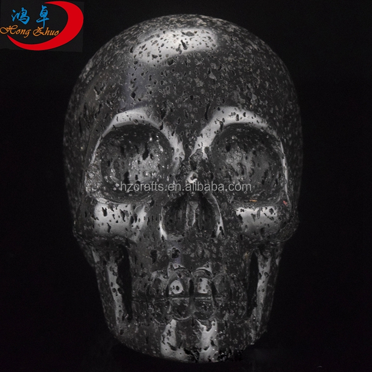 2 inch Carved Natural Volcanic Lava Crystal skull for Cyrstal Healing,Reiki,gift