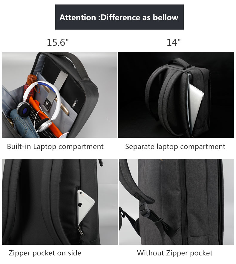 Tigernu New Arrivals Multifunction USB charging Men 14inch Laptop Backpacks For Teenager Large Capacity Splashproof Backpack
