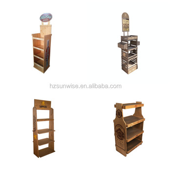 Custom design welcomed low price good quality wooden retail beer display racks